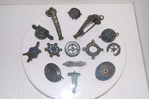 Enamel brooches from Verulamium Museum