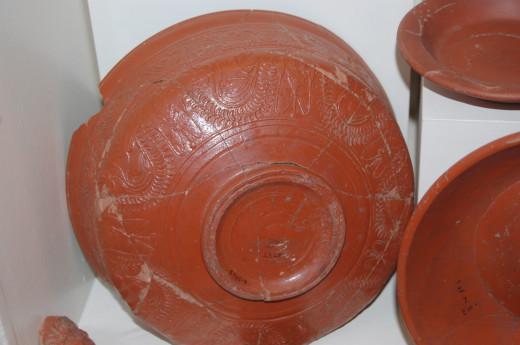 Samian pottery from Verulamium Museum