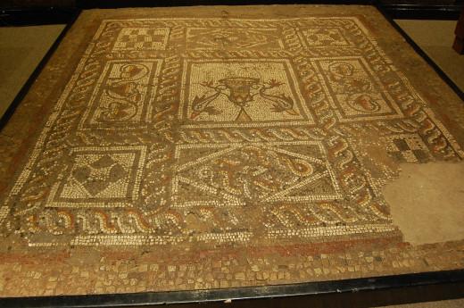 Mosaic floor from Verulamium museum