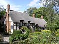Anne Hathaway's cottage where she was born. Belonged to her parents, and then to her brother.
