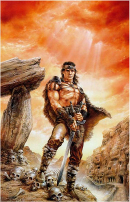 Conan the Liberator - art by Luis Royo