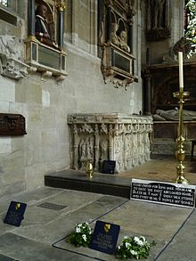The tombs of William and Anne Shakespeare in Stratford-upon-Avon.