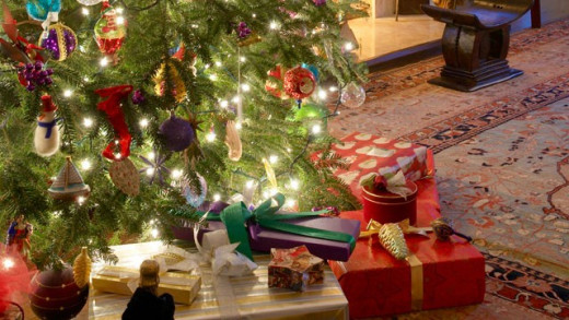 Gifts under the tree.