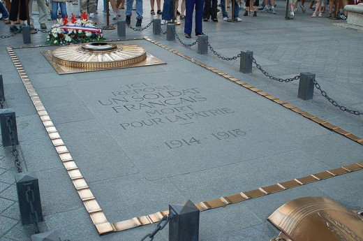 Tomb of the Unknown Soldier, Paris France Photography taken by Jérôme BLUM on 2006, July 14