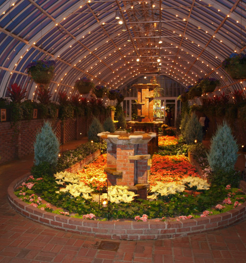 Near the end of the visit, the Sunken Garden always delights at the Phipps Conservatory.
