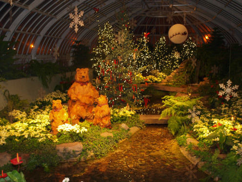 The East Room at Phipps Conservatory is a hit with kids during the Holiday season.