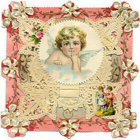 Victorian lace valentine