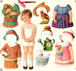 Vintage Paper Dolls for and of Little Girls