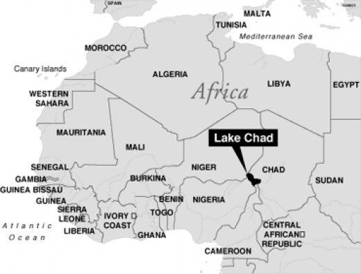 Lake Chad in Africa where spirulina grows naturally and they have been eating it for hundreds of years.