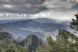 Manzano Mountains outside of the city.