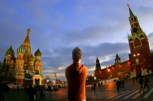 I have never been to Russia, but when my friend Lucy Oleinik gave me this photo, I was in Red Square, Moscow, for a while.