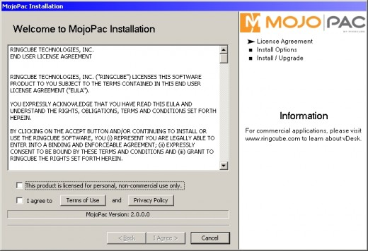 the mojopac software