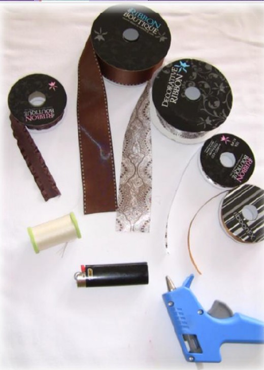 Materials Needed To Make Boutique Style Hair Bow