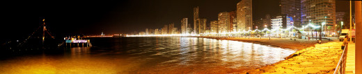 After our day out we spent another evening and night down Levante here's the beach at Midnight