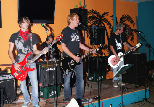 The Rock Band SFM from Alicante doing their first Gig in Benidorm  Went down a storm too