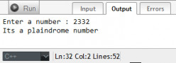 C++ Program: To Check Whether a Given Number is Palindrome or Not using Do-While loop