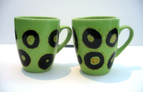 RedInstead ceramic cup set