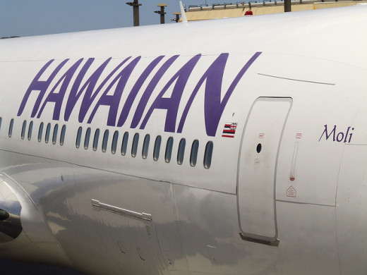 Side of a Hawaiian Airplane