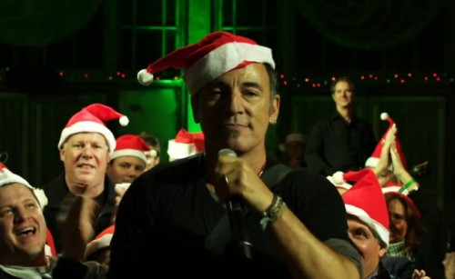 Bruce recording the concert at the Carousel, Asbury Park, NJ. December 2010