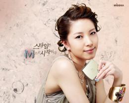 A Missha ad featuring K-Pop singer BoA.