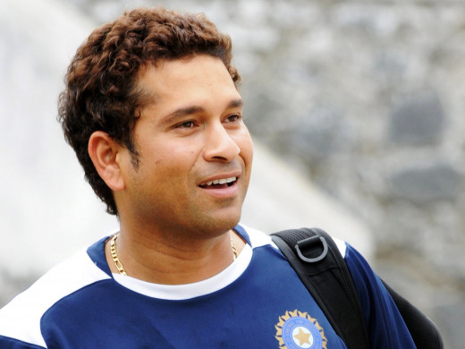 Sachin Tendulkar after Practice Session