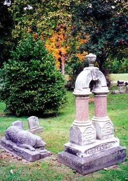 Dimick children's gravesite (brother and sister) with faithful dog