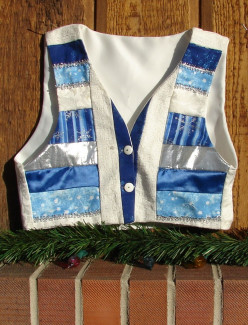 Make a Glitzy  Vest for any  Festive Holiday Occasion