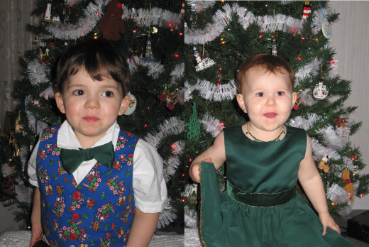 My son at almost 3yrs and my daughter at about 21m.