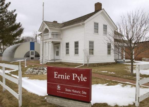 Ernie Pyle's birthplace was an Indiana Historic Site from 1976-2009.  It is now called the Ernie Pyle World War II Museum and operated by Friends of Ernie Pyle.