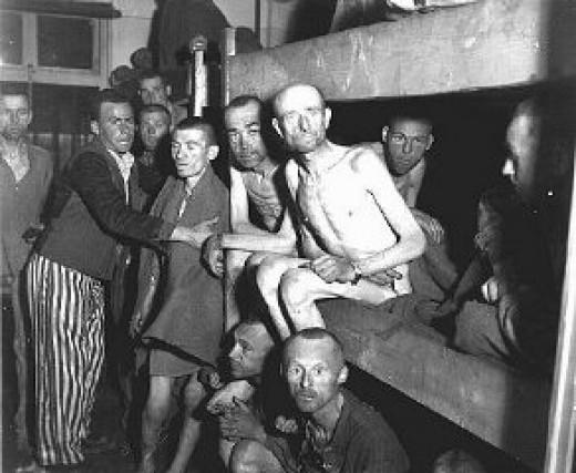 Concentration camp prisoners.