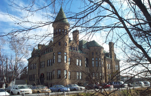 Old Stoney, built as a high school in 1892, now houses the Clinton County Historical Museum