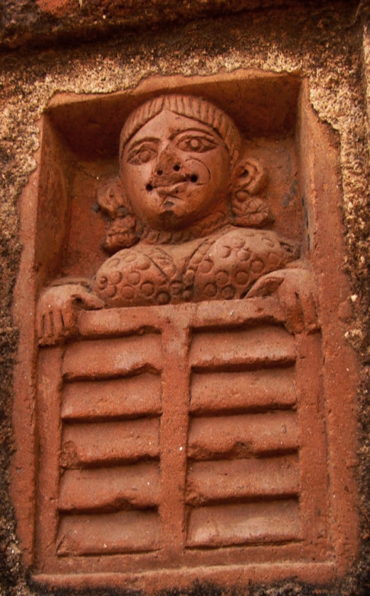 Lady at a window, Ajodhya; terracotta