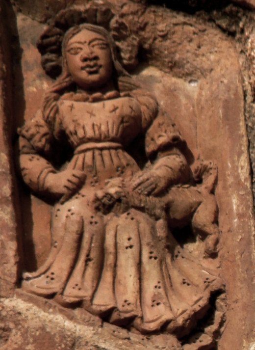 A lady with a dog, Ajodhya