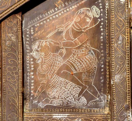 Metal engraving, Rath; Bonkati