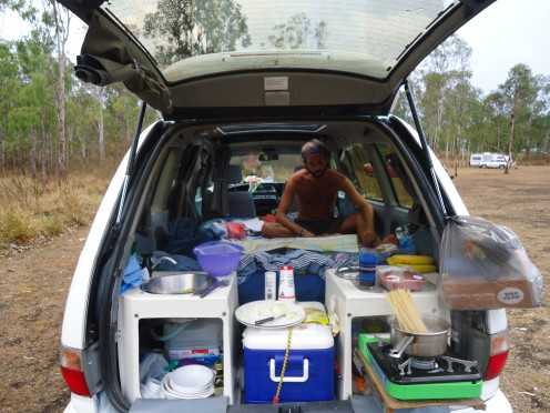 Our Jucy Campers Campervan in Queensland, Australia