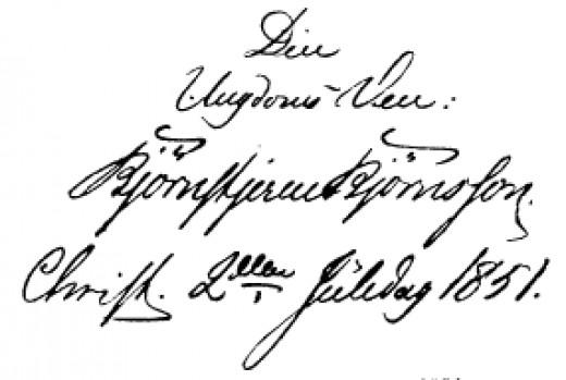 Bjørnstjerne Bjørnson's handwriting. Do you like it?