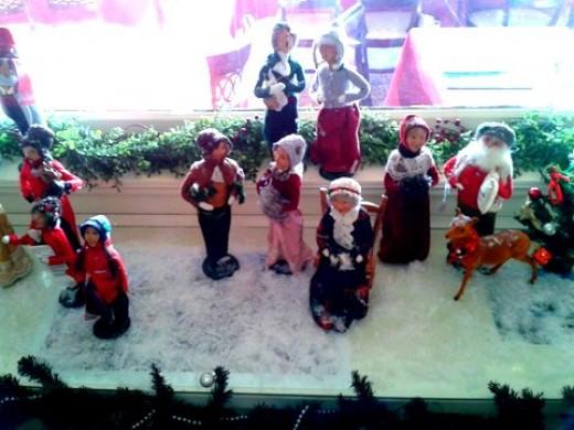 Christmas Figurines at Wilburton Inn, Manchester, VT.