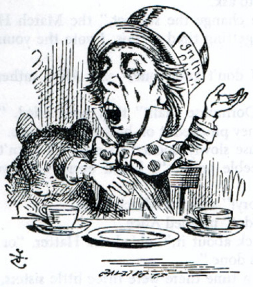 That most famous of madmen... the Mad Hatter of Wonderland fame