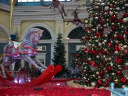 Some of the Christmas decorations at the Bellagio Hotel in the Conservatory there. It is just stunning, year after year.