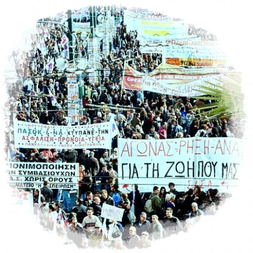 Greece 2012: Over 80,000 protest in Greece Against Austerity Measures
