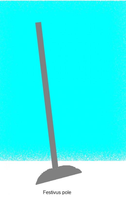 The classic beauty of the unadorned aluminum Festivus pole.