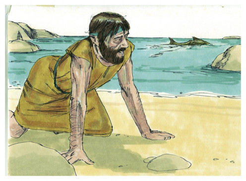 God gave Jonah an assignment, but Jonah ran away from it, and he nearly lost his life in the process. Biblical illustration of Book of Jonah Chapter 1.