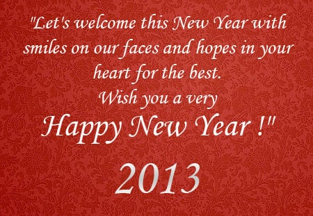 2013 wishes for a Happy New Year