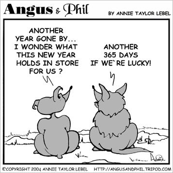 Angus and Phil wishing all a Happy New Year