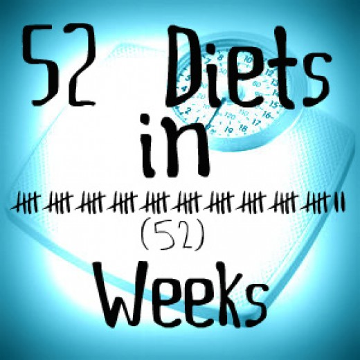 Preparing for the 52 diets in 52 weeks challenge.