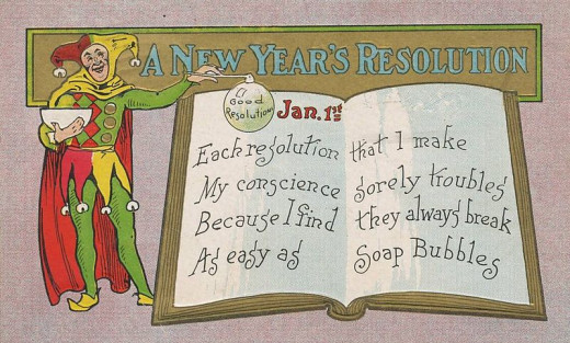 New Year's resolutions are easier to say, than to keep.