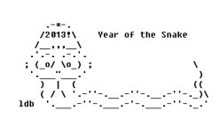 Year of the Snake: Happy New Year ASCII Text Art