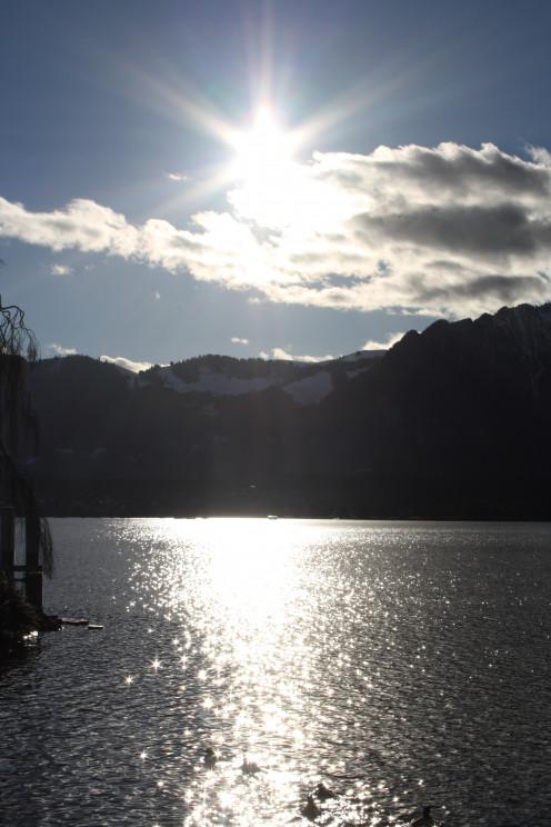 The Afternoon Sun - Lake Thun, Switzerland