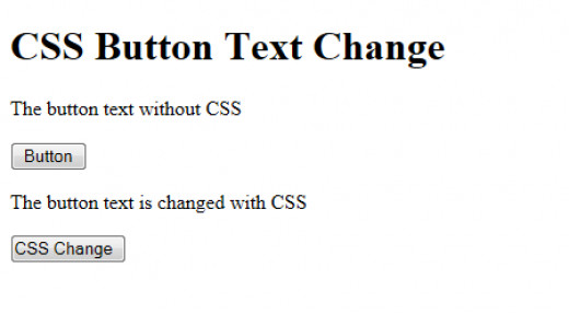 Image1: Change button text using CSS