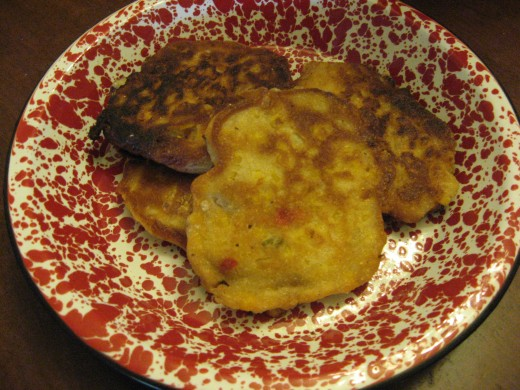 Patty Pan Squash fritters
